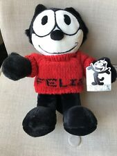 Felix The Cat Plush Stuffed Animal Toy Vintage Nwt Commonwealth Red Sweater
