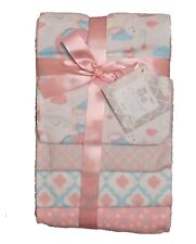 RECEIVING X4 - CRIBMATES GIRLS - AIR BALOON PINK - BLANKETS COTTON 4 PACK BABY