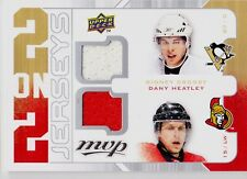 CROSBY,HEATLEY,SPEZZA,& NASH '08-09 UD MVP QUAD 2 ON 2 3 COLOR GAME USED JERSEYS