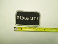 Vintage Ridgelite Truck Uniform Logo Embroidered Sew On Patch