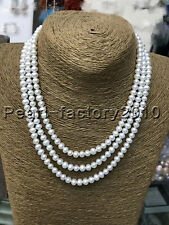 50 Inch Long Genuine 7-8mm  White Pearl  Necklace south sea
