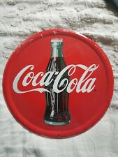 Coca-Cola Round Metal Sign 12 Inches