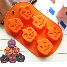 DIY 6 Cups Halloween Pumpkin Silicone Cake Mold Cookie Candy Chocolate Mould