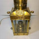 "Cargo Light No 3954 Brass Lantern Table Lamp Great Britain 1939 30"""