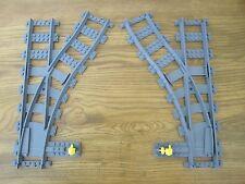 Lego City TRAIN - 2 RC SWITCHING TRACKS - Mint Unused 7939 60052 3677 60098