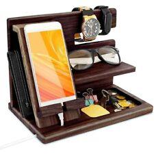 Phone Holder Office Desk Organizer Desktop Storage With Shelf Rack Wallet Watch