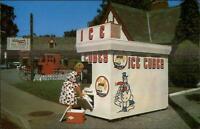 Mattituck & Manhasset Long Island ICE VENDING MACHINE Postcard Size Blank Back