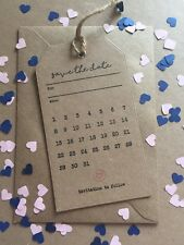 50 Magnetic Wedding Save The Date Rustic Cards Luggage Tags & Free Envelopes