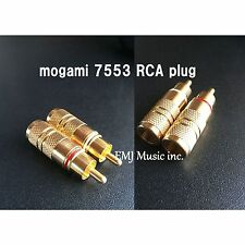 mogami 7553 RCA connectors 4 pairs (red&white) Made in Japan New Genuine F/S