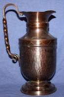 Vintage copper hand made jug