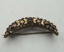 Victorian 9ct Rose Gold Sapphire Antique Brooch
