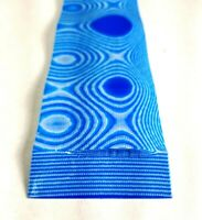 "2 Pcs BLUE / WHITE LAYERED .187"" G-10  KNIFE HANDLE MATERIAL SCALES G10"