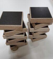 12 x Möbelfuß Gleiter Birke Multiplex Siebdruck ■ 70 x 70 x 21 mm wasserfest NEU