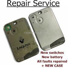 REPAIR SERVICE Renault Laguna Espace Vel Satis key card fob remote plip + case