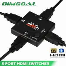 HDMI Splitter Switch Box 3 Port Hub Full HD HDTV 3 In 1 Out 1080P Video Adapter
