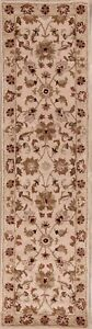 "Hand-Tufted Floral Runner Traditional Agra Oriental Rug Wool  9' 7"" x 2' 6"""