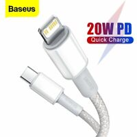 Baseus 20W USB C for Lighting Cable Fast Charger Data Cord for iPhone 12 11 pro