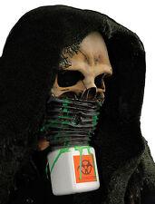 Halloween SKELETON SKULL BIOHAZARD SURVIVOR LATEX DELUXE MASK Haunted House NEW