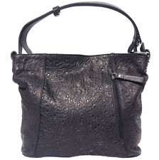 Shoulder Bag Italian Genuine Leather Hand made in Italy Florence 3016S bk