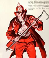 1940 Texaco Dealers Fire-Chief Gasoline Engines Fire Fighter  Vintage Print Ad