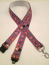 Circus Clown ribbon lanyard safety clip ID badge holder handmade student gift