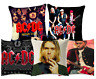 ROCK MUSIC Cushion Covers! Retro Vintage Musician Bands Album Cover 45cm Gift UK