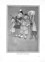 Sights down in the country.H.M.Bateman.1909.Caricature.Cartoon.Costume.Art