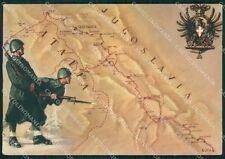 Militari 87º Reggimento Fanteria Friuli Ex Jugoslavia PIEGHE FG cartolina XF3068