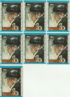 Ray Bourque Boston Bruins 1989-90 Topps Hockey 7 Card Lot #110