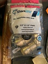 4 Pack Sharkbite U072lfa4 Straight Female Connectors 12 X 12 Cts Cpvc Pex