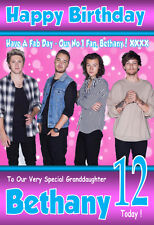 1D ONE DIRECTION NEW  Personalised Birthday Card! ANY NAME / AGE!