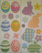Spring Flowers Bunny Rabbits Easter Eggs Fun Time Removable Wall Safe Stickers