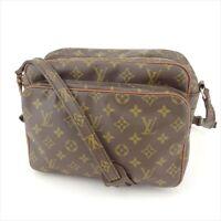 Louis Vuitton Shoulder bag Monogram Purple Leather Woman Authentic Used T8951