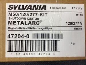 2 PIECES SYLVANIA 47204 M50/120/277-KIT METAL HALIDE MAGNETIC BALLAST KITS