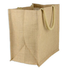 "Burlap Euro Shopping Bag 15.5"" x 13.75"" x 6"""