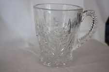 "EAPG IMPERIAL VERY RARE FOUR SEVENTY FOUR CLEAR HANDLED MUG 474 4.5""X 3.75"""