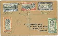 28507 - MAPS - POSTAL HISTORY -  ASCENSION : REGISTERED COVER  to UK 1937
