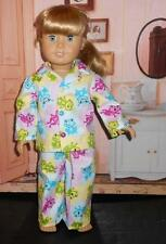 "Frogs in bubbles 2 piece cotton  pajamas  fits American girl 18"" doll"