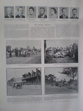 Printed photos Vanderbilt Cup motor car race Long Island New York USA 1904