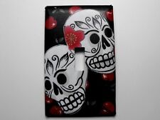 Day of the Dead Decorated Single Light Switch Plate Cover Sugar Skulls