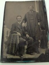 Antique TINTYPE Tin Type PHOTO of TWIN Brothers * Identical Twins