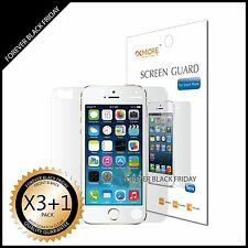 iPhone 5S Anti-Scratch Screen Protector HD Clear Cover Guard 3x Front + 1x Back