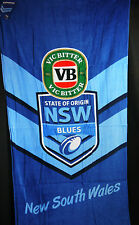 BLUES STATE OF ORIGIN NSW BEACH BATH TOWEL 152 CM X 76 CM  New South Wales  NRL