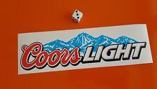 Cerveza Coors Light Adhesivo Calcomanía ventana, Bar, parachoques 210mm X 55mm
