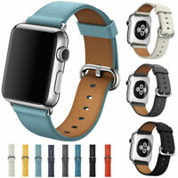 Leather Band Bracelet Strap For Apple Watch Series 5 4 3 2 1 38mm/40mm/42mm/44mm
