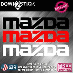 Mazda Brake Caliper High Temp. Vinyl Decal Stickers Set Of 6