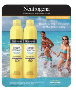 Neutrogena Beach Defense Sunscreen Spray Broad Spectrum SPF 60+, 8.5 oz, 2-pack