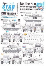 Star Decals 1/72 BALKAN PEACEKEEPERS British UN Warriors