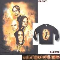 Disturbed Apocalypse Cartoon Heads Black Long Sleeve Shirt New Official Band