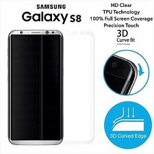 NEW UPDATED* Full Curve Samsung Galaxy S8 TPU Screen Protector Film x3